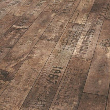Vintage oak barrel flooring via Pinterest